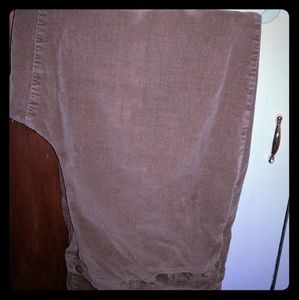 Womens corduroy pants with button